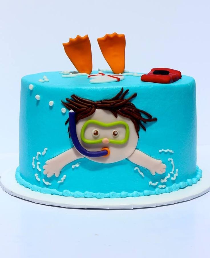 Swim Cake Pool Party Future Birthday Party Ideas Pinterest