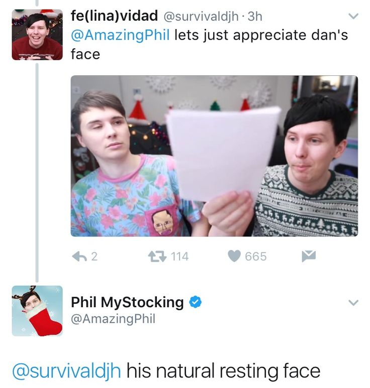 Honestly this part of that video was rlly cute. Dan's reaction I mean