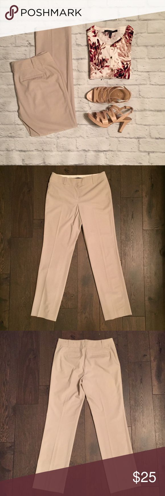 Ann Taylor Stone Straight Leg Pants Ann Taylor stone Straight Leg Pants. Zip and hook closure. Two back pockets. See photo for fabric and care. Ann Taylor Pants Straight Leg