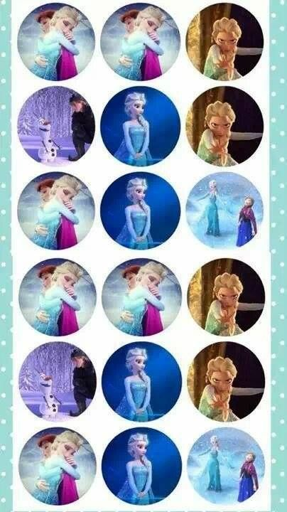 Disney's Frozen  bottle cap images