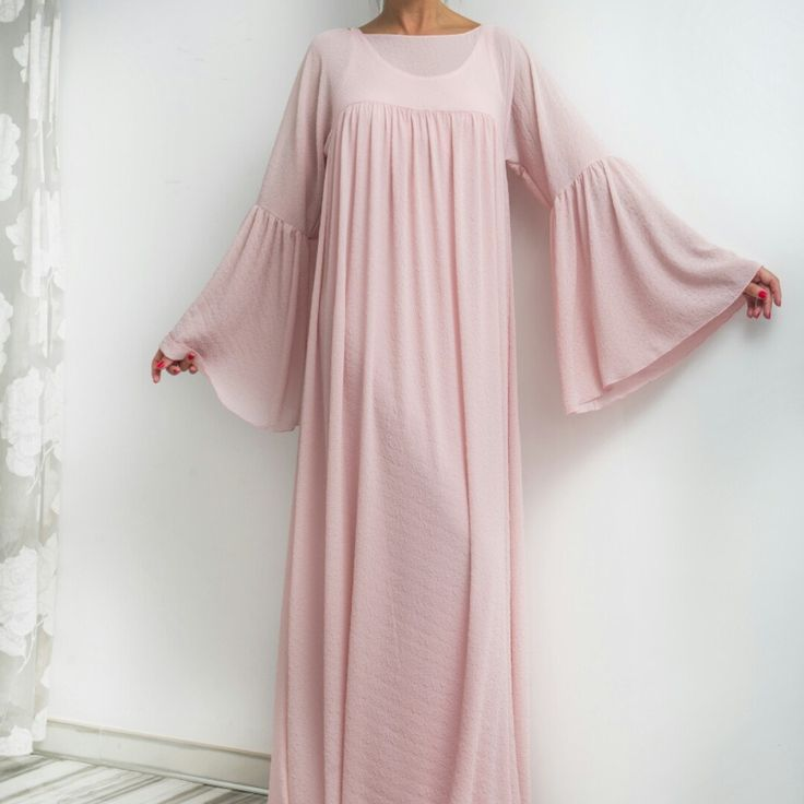 Beautiful boho pale pink dress! Romantic, extraordinary design - a lovely piece for the summer!