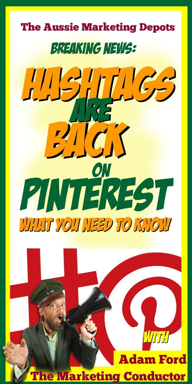 Breaking - #Hashtags are BACK on #Pinterest #marketing #social media - what you need to know