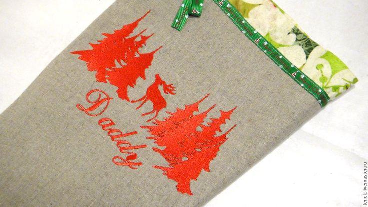 Купить Рождественский сапожок подарок новогодний Олени Чулок Носок мешочек - рождественский сапожок