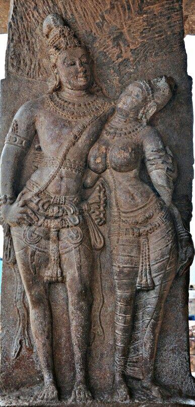 """Maithun"" (Loving Couple). Virupaksha Temple. Pattadakal, Dist. Bagalkot, Karnataka, India."