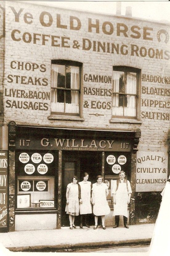 No bloaters, thanks! And the name of the establishment is unfortunate, don't you think? Commercial Road, 1926.