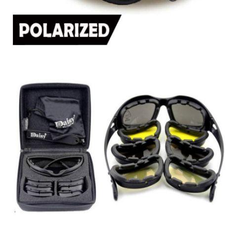 4 Lensli Polarize Gözlük Seti Özel Kutusunda Fazla Söze gerek yok ürün kalitesine ve pratik kullanımına hayran kalacaksınız. yeni bir tarz C5 Polarize ordu gözlük seti