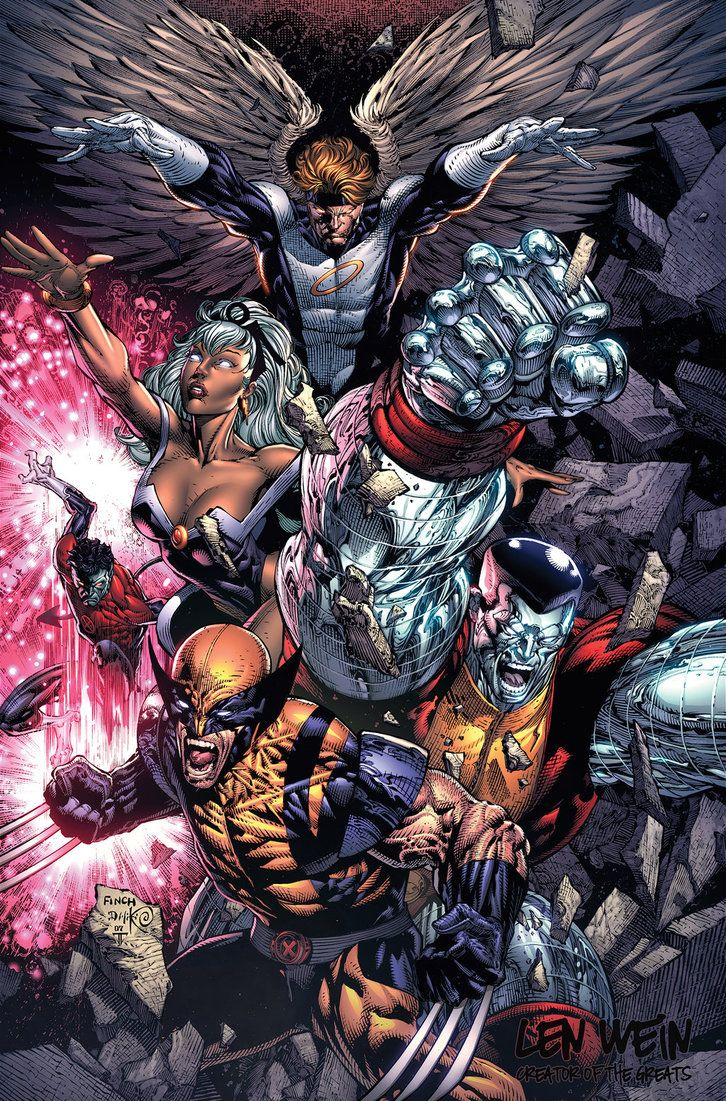 Wallpaper iphone 6 xman - Comics Artwork Uncanny X Men Uncanny Xmen Angel Storm Nightcrawler Wolverine Colossus David Finch Danny Miki Juan Fernandez