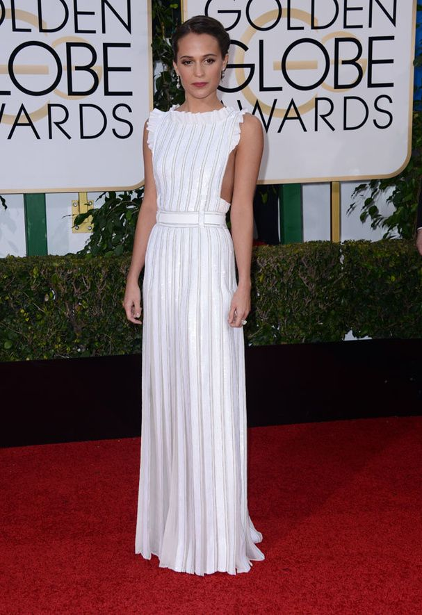 Alicia Vikander in Louis Vuitton - Golden Globes Awards 2016