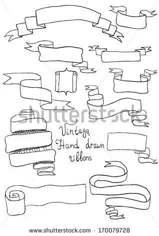 Hand drawn ribbons by Orfeev, via Shutterstock