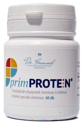 PrimProtein regenerátor kapszula 60 db, oligopeptid, fulvosav, huminsav tartalommal - Dr. Hummel Zoltán