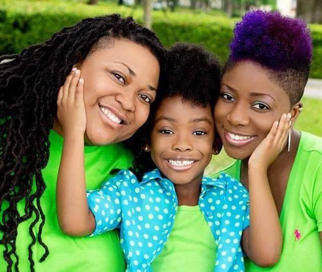 black lesbian family photo