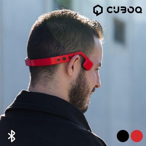 CuboQ Bone Driving Bluetooth øretelefoner, finnes i sort og rød farge | Satelittservice tilbyr bla. HDTV, DVD, hjemmekino, parabol, data, satelittutstyr