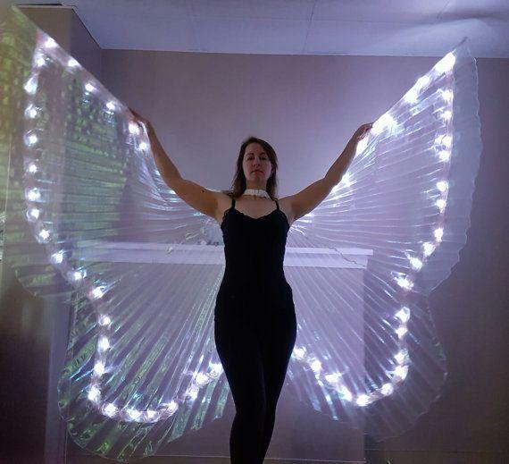 CUSTOM Butterfly LED isis wings please read item by LunarWear