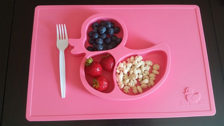 One piece place mat that suctions to the table for less mess! This is the best…