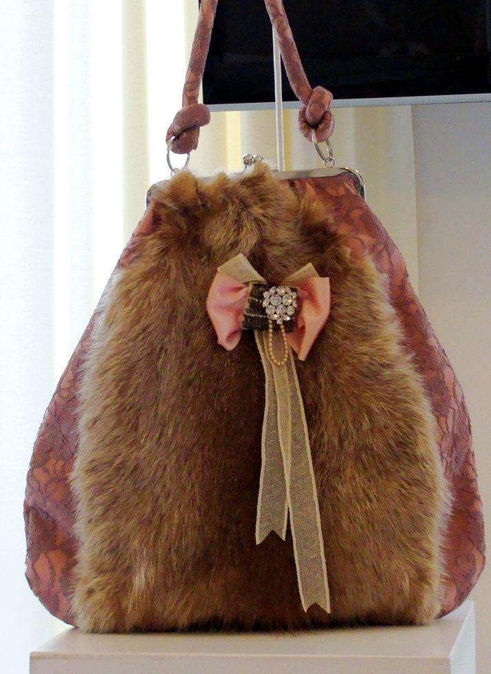 Mia Mia fur handbag
