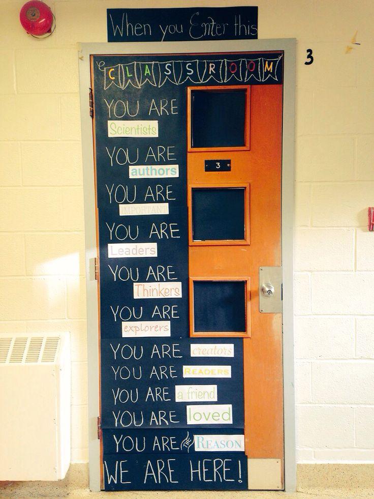 Our classroom door.