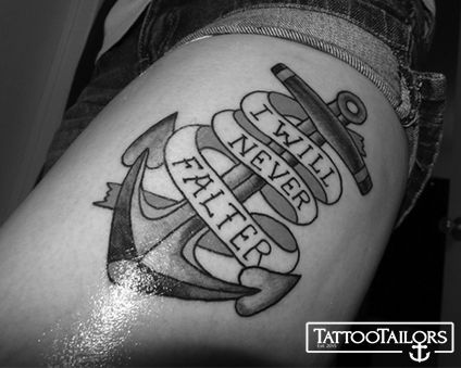 17 best ideas about anchor thigh tattoo on pinterest for Black anchor tattoo la