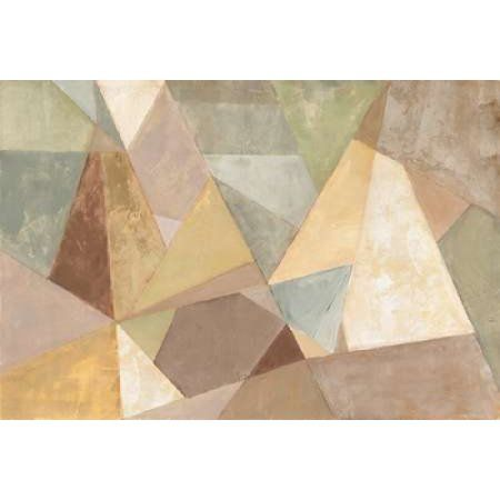Geometric Abstract Neutral Canvas Art - Silvia Vassileva (20 x 28)