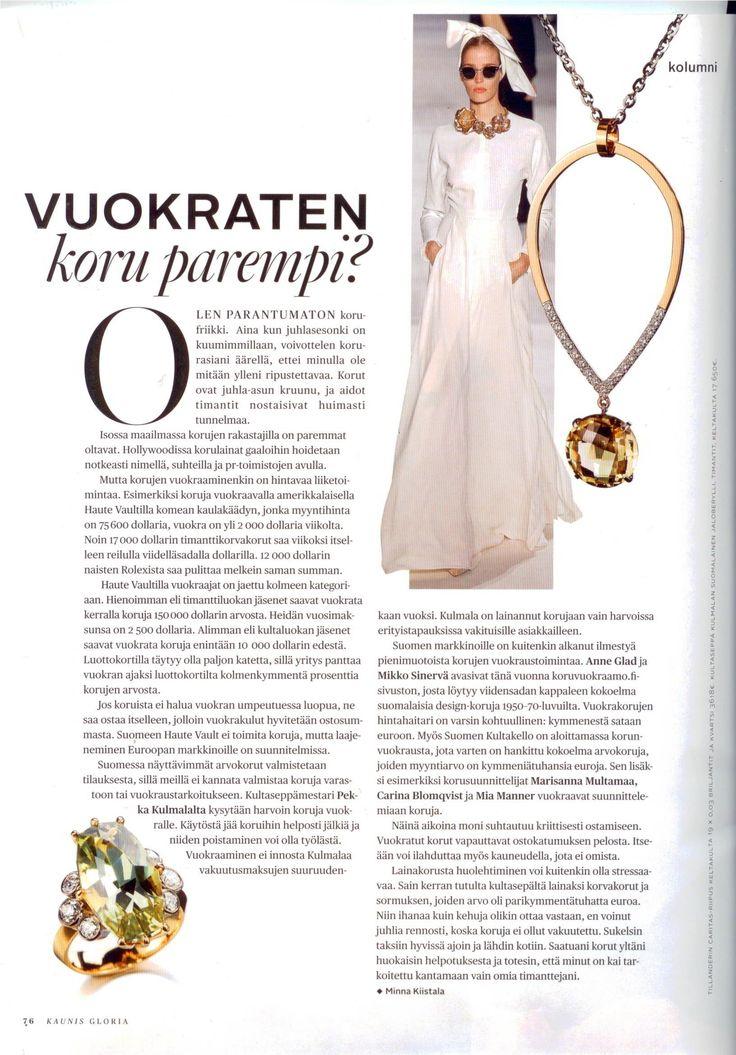 Vuokraten koru parempi? | Suomen Kultakello | Kaunis Gloria, talvi 2014/15