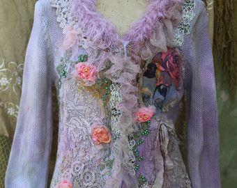 Señora de la chaqueta chaqueta de lana mezcla de por FleursBoheme