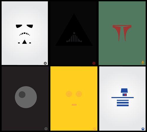 Star Wars Minimalist Posters by Rafal Rola