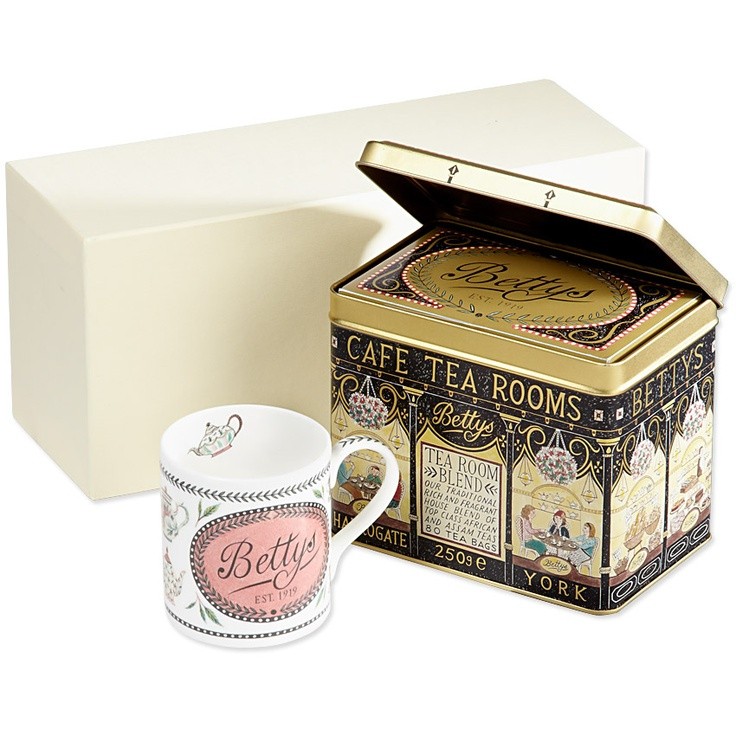 bettys tea room blend gift box bettys online want cup o 39 tea daaaaarling pinterest. Black Bedroom Furniture Sets. Home Design Ideas