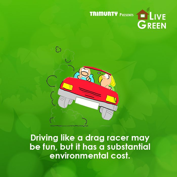 #LiveGreenTip Simple changes in our existing driving habits can improve fuel efficiency by up to 25 percent.
