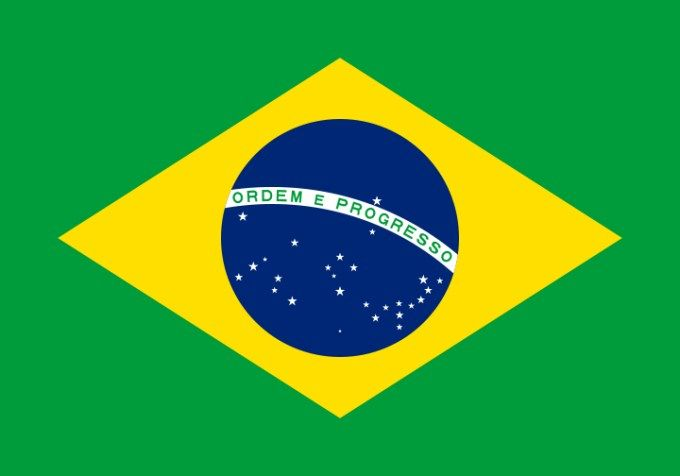 Flag of Brazil :   This is the national flag of Brazil, a large country in South America. Want to learn more? Check out these fun Brazil facts and Brazil maps.