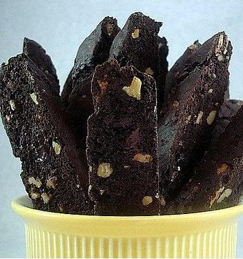 Recipe for Dark Chocolate Walnut Biscotti