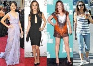 celebrity weight loss, mila kunis weight loss, mila kunia weight gain