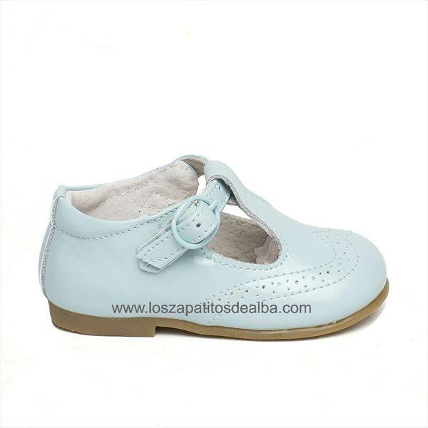 Zapatos Niño estilo Pepito celeste modelo  Ángel