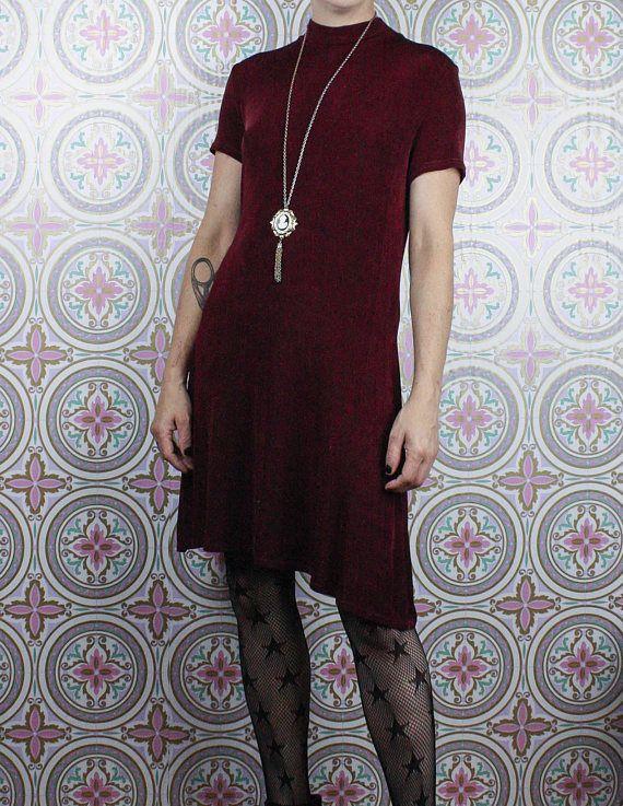 90's Dress in my Etsy shop #vfg  https://www.etsy.com/ca/listing/194510442/90s-stretch-dress-short-wine-grunge