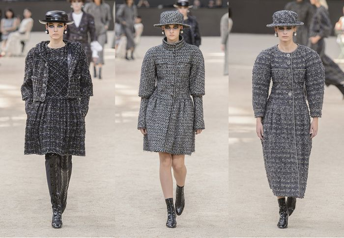 A Parisian garden was created in the Grand Palais in the shadow of its own mini Tour Eiffel to host the CHANEL Fall-Winter 2017/18 Haute Couture Show.    #chanel #chanelshow #chanel2017 #chanelhautecouture #chanelcollection2017