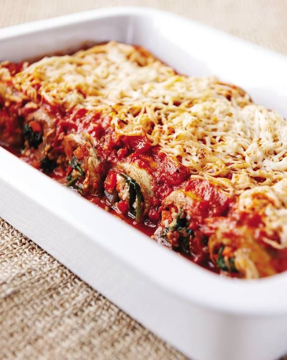 This post features a recipe for Eggplant Cannelloni from the Eat to Live Cookbook by Dr. Joel Fuhrman.