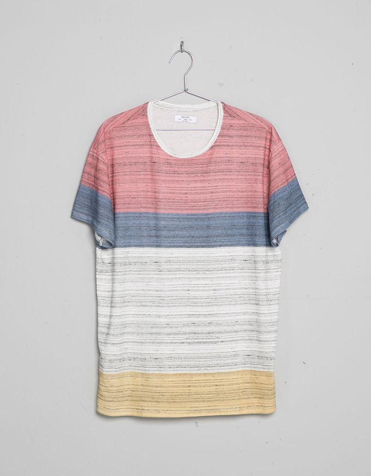 Camiseta colores textura - Camisetas - Bershka España