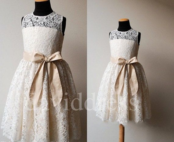 Beautiful Lace  Flower Girl Dresses Party Evening by daviddress, $52.00