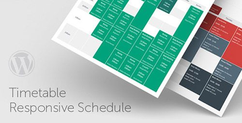 Timetable Responsive Schedule For WordPress v3.9  Blogger Template