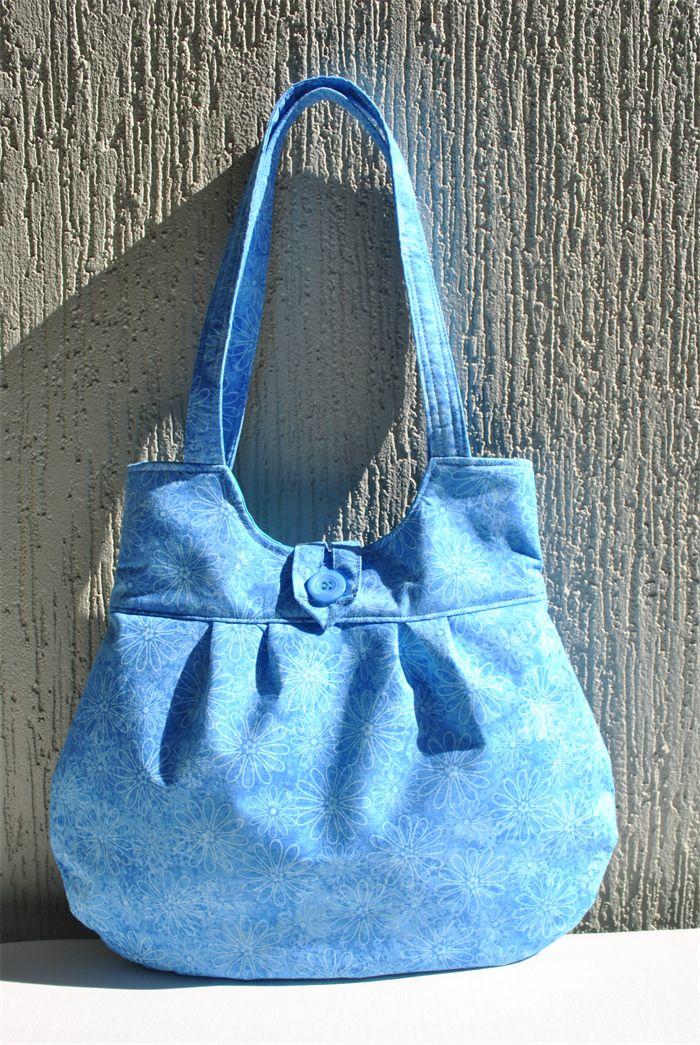 Sarah - ladies blue floral bag