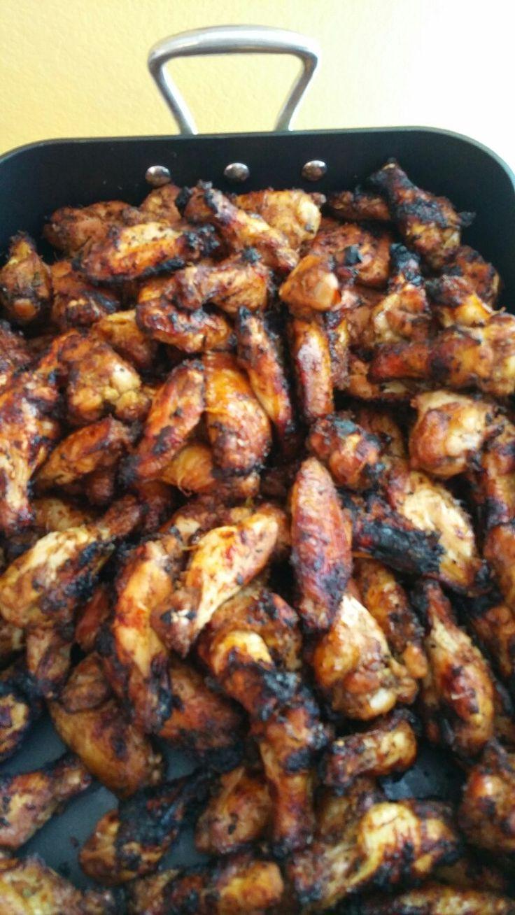 Bar b que chicken wings