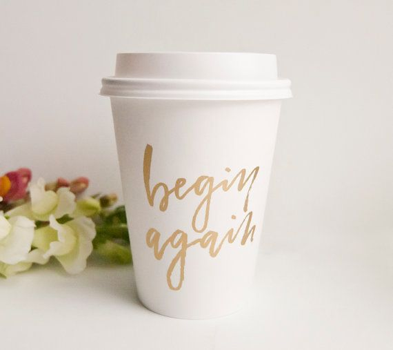 To-Go Disposable Coffee Cups Begin Again by StephanieBDesign