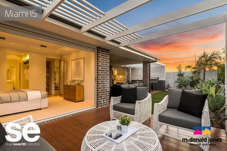Your own private alfresco off the Master bedroom suite. Indoor/outdoor living on the #alfresco through #bifolddoors. What do you think? This is the Miami 15 on display at Jordan Springs -   #alfresco #bbq #verendah #deck #outdoorentertaining #outdoor #nature #environment #mcdonaldjones #displayhome #masterbedroom #mastersuite