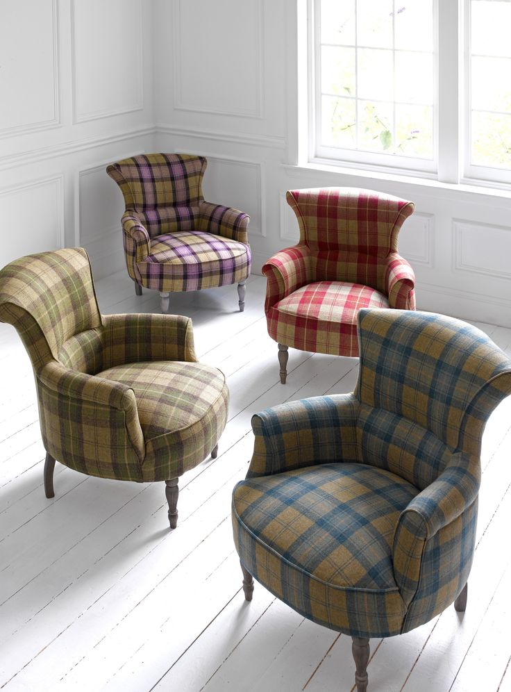 wingback chair uk open back dining chairs pin by amanda tucker on arm | plaid chair, tartan
