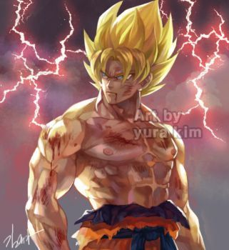 [Video attached] Goku drawing by GoddessMechanic2