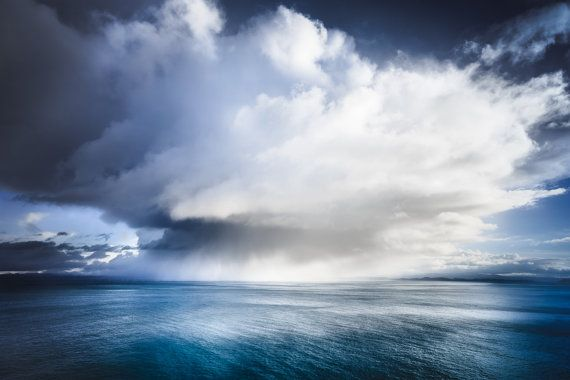 HUGE CANVAS Isle of Skye Photography Clouds by TheSkyeBlueGallery