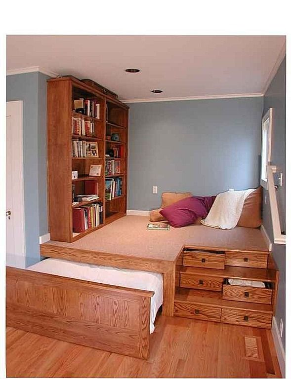 "Craftsman ""Kids"" Bedroom - The place I pinned this from called it a kids bedroom, but looks like a cool ""spare room"" / multi-purpose =)"
