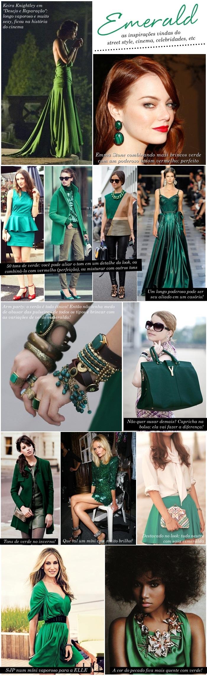 Inspirações pra usar o verde esmeralda - E aí, Beleza?