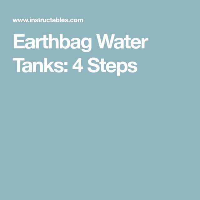 Earthbag Water Tanks: 4 Steps