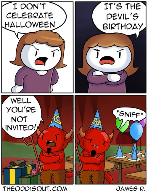 theodd1sout: This Halloween, remember what it's really...