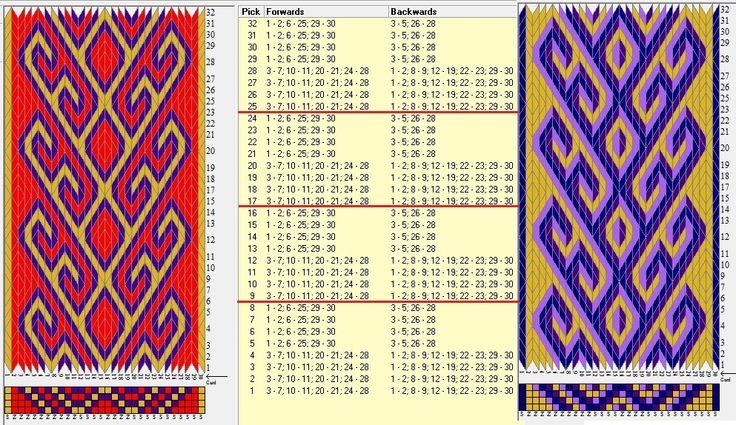 30 tarjetas, 3/4 colores, repite cada 8 movimientos // ramshorn19 diseñado en GTT༺❁