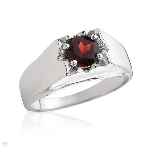 Solitaire Garnet Ring: Fathers Day Special 06/01 to 06/16 Enter Code f914378448 for 15% Off Total Purchase of $25 or More